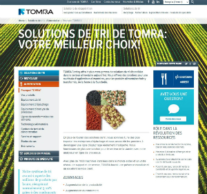 TOMRA has launched a French version of its website.