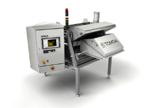 The team from TOMRA have been shortlisted for the event's Innovation Award for its Nimbus BSI free fall sorting machine.