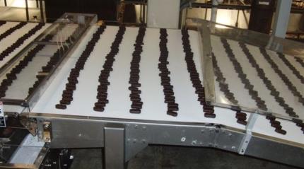Chocolates on a conveyor