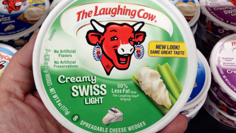 Laughing Cow cheese production